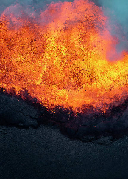 Fissure Photograph - Lava Explosion by Christopher Johnson