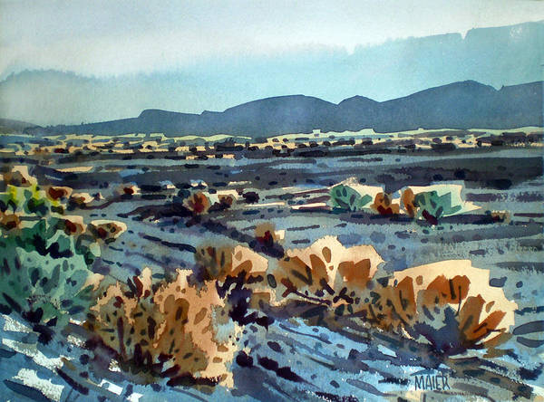 Lava Wall Art - Painting - Lava Flow In Death Valley by Donald Maier