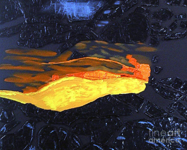 Painting - Lava Flow by Karen Nicholson