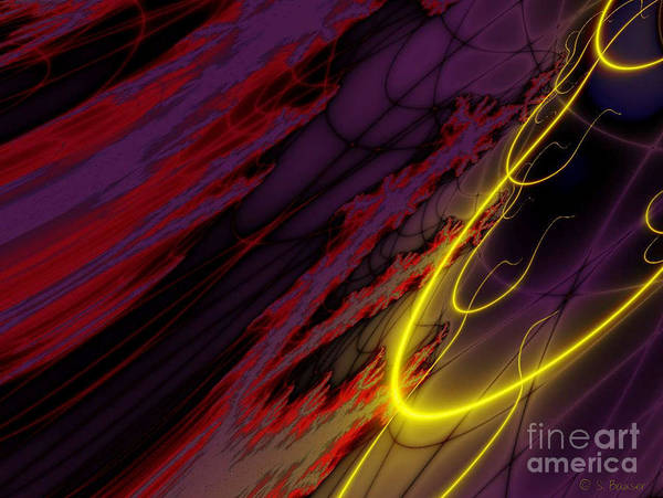 Digital Art - Lava Flow by Sandra Bauser Digital Art
