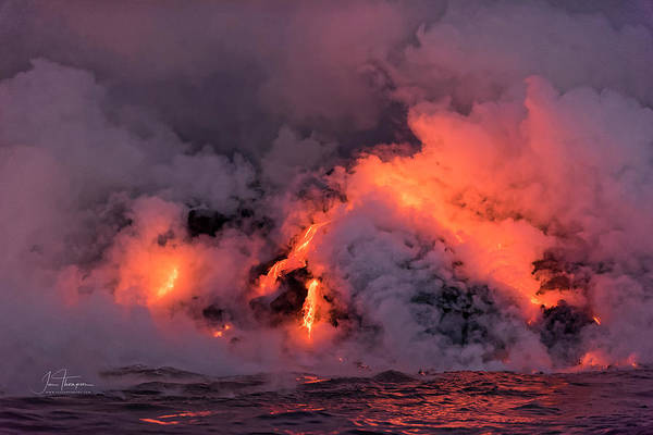 Photograph - Lava Flowing Into The Ocean 16 by Jim Thompson