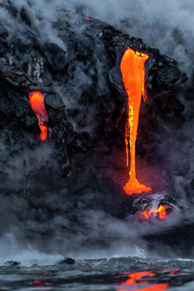 Photograph - Lava Flowing Into The Ocean 18 by Jim Thompson