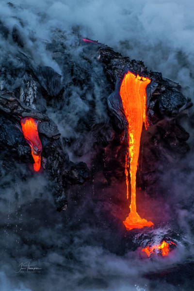Photograph - Lava Flowing Into The Ocean 19 by Jim Thompson
