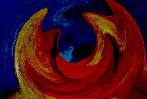 Lava Ocean Art Print