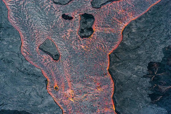 Fissure Photograph - Lava River Texture by Christopher Johnson
