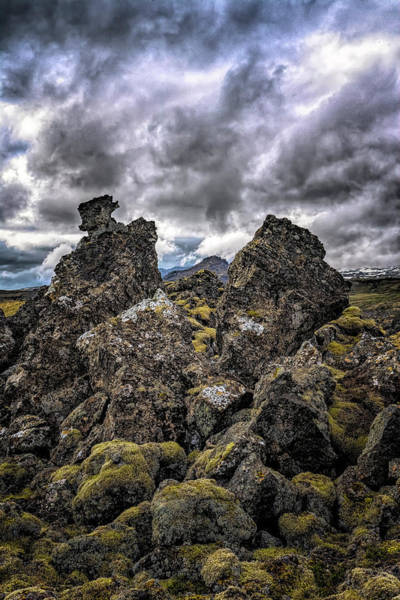 Photograph - Lava Rock And Clouds by Tom Singleton