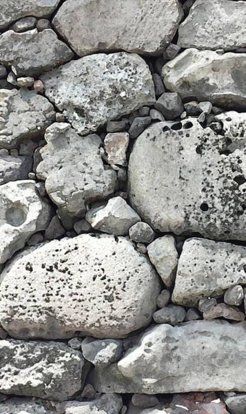 Lava Rock Wall 1 Triptych C Art Print