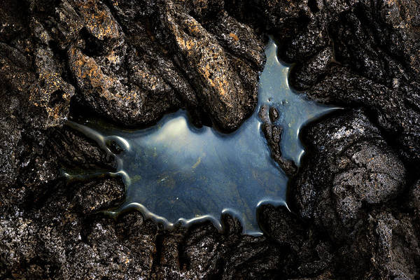 Photograph - Lava Rock Water by Christopher Johnson