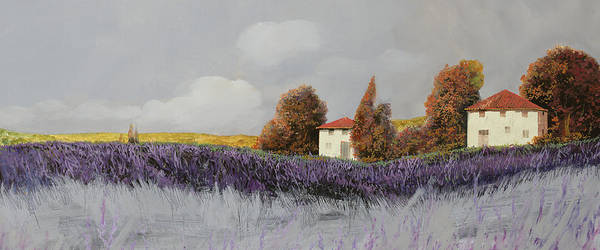 Lavender Wall Art - Painting - Lavanda Orizzontale by Guido Borelli