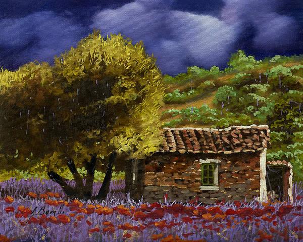 Lavender Painting - Lavanda Sotto Il Cielo Blu by Guido Borelli