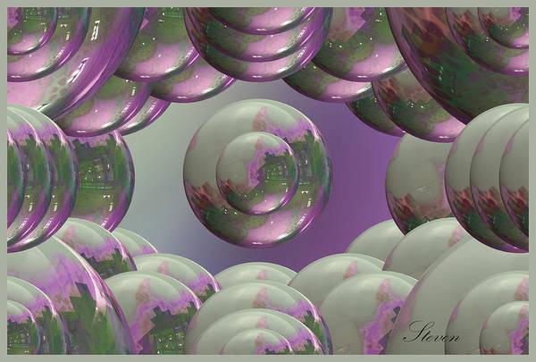 Wall Art - Digital Art - Lavender And Cream by Steven Lebron Langston