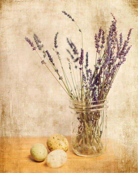 Wall Art - Photograph - Lavender And Eggs by Rebecca Cozart