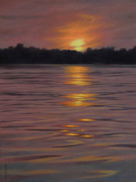 Wall Art - Painting - Lavender And Fire by Barry DeBaun