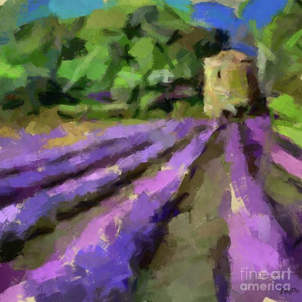 Wall Art - Painting - Lavender And Pigeonnier by Dragica Micki Fortuna