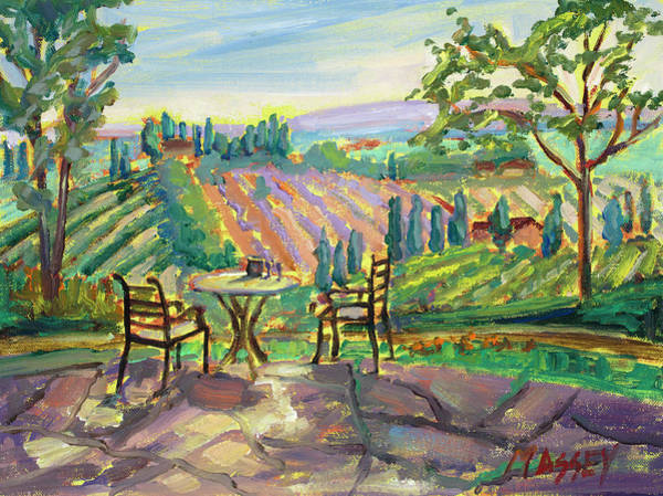Dining Al Fresco Painting - Lavender And Wine by Marie Massey