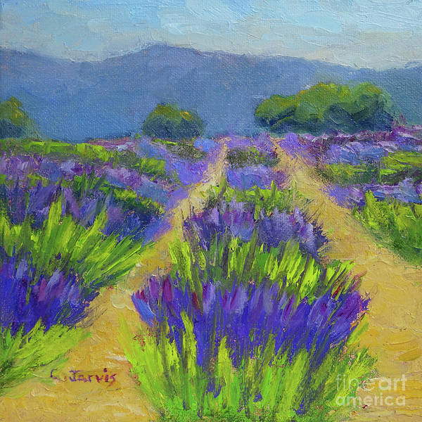 Painting - Lavender Blue by Carolyn Jarvis
