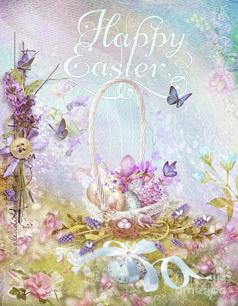 Egg Mixed Media - Lavender Easter by Mo T