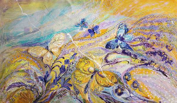 Wall Art - Painting - Lavender Fields Forever by Elena Kotliarker