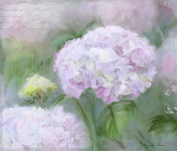 Wall Art - Painting - Lavender Hydrangea Romantic Garden by Audrey Jeanne Roberts