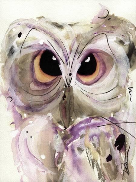 Lavender Owl Art Print