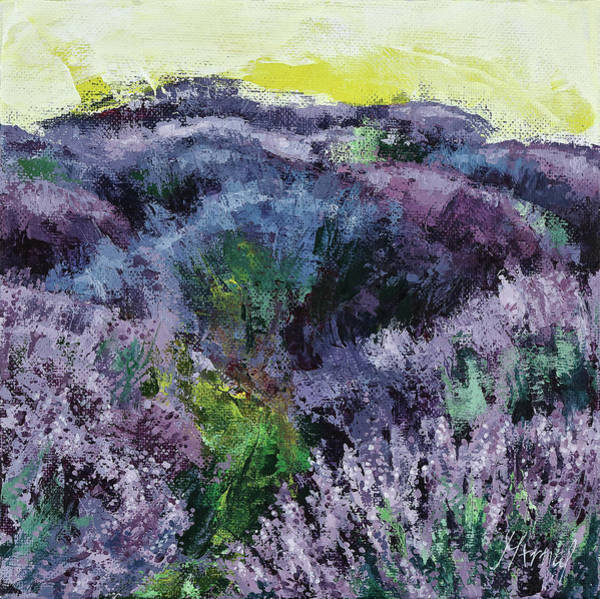 Painting - Lavender Field by Maria Arnaudova