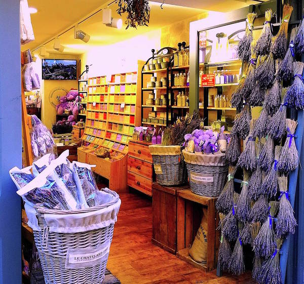 Photograph - Lavender Shop In Southern France by Monique Wegmueller