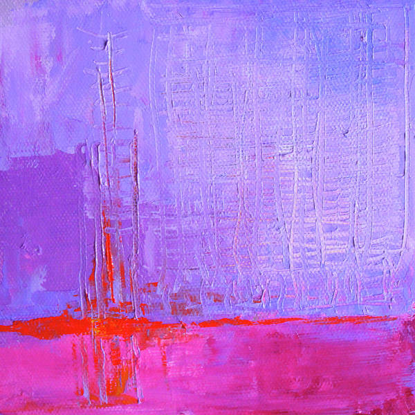 Wall Art - Painting - Lavender Sky by Nancy Merkle