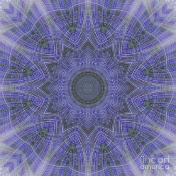Photograph - Lavender Twirl Kaleido by Elaine Teague
