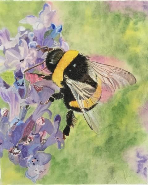 Painting - Lavender Visitor by Sonja Jones