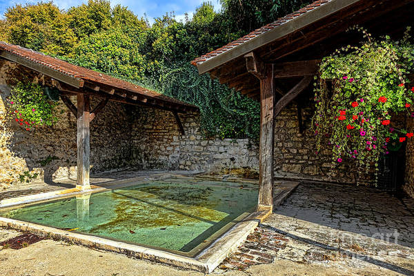 Photograph - Lavoir With Flowers by Olivier Le Queinec