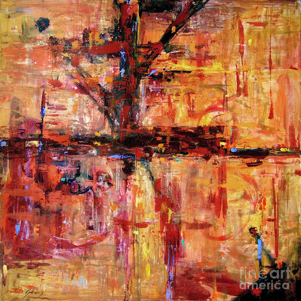 Lax Painting - Lax Runway No. 2 by David Lloyd Glover