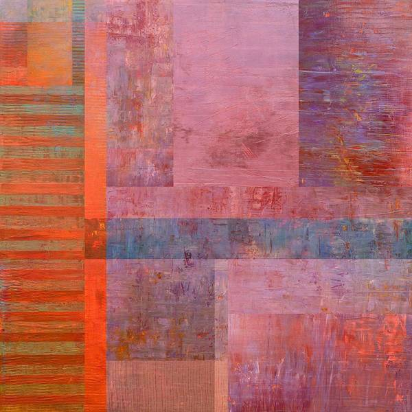 Painting - Layer Study - Purple by Michelle Calkins