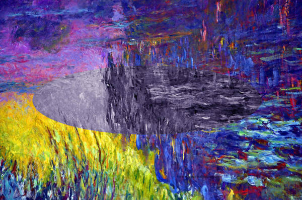 Digital Art - Layered 17 Monet by David Bridburg