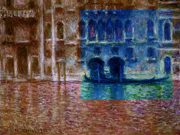 Digital Art - Layered 18 Monet by David Bridburg