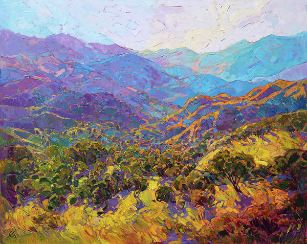 California Painting - Layered Light by Erin Hanson