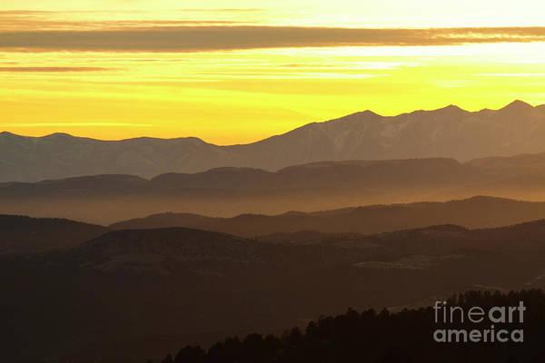 Photograph - Layered Sangre De Cristo Winter Sunset by Steve Krull