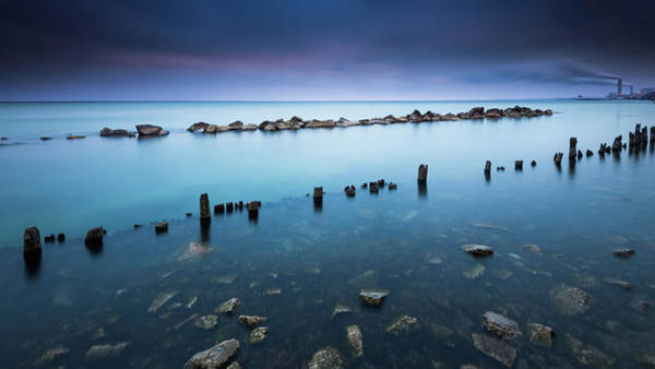 Piling Photograph - Layers Of Blue by Josh Eral