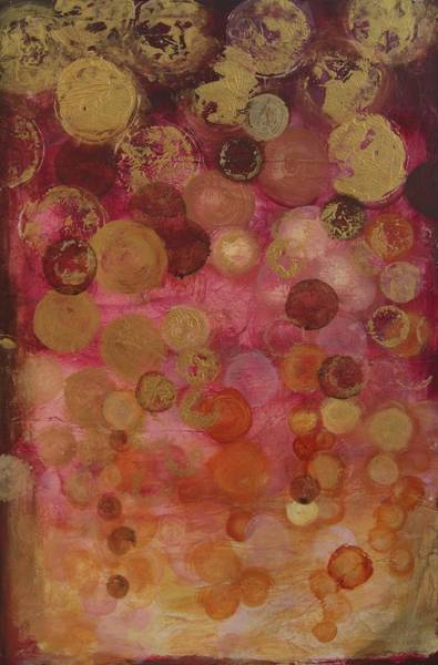 Painting - Layers Of Circles On Red by Kristen Abrahamson