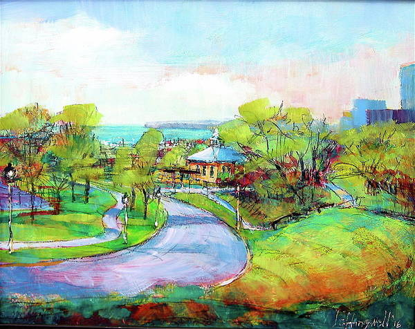 Painting - Layfayette Hill by Les Leffingwell
