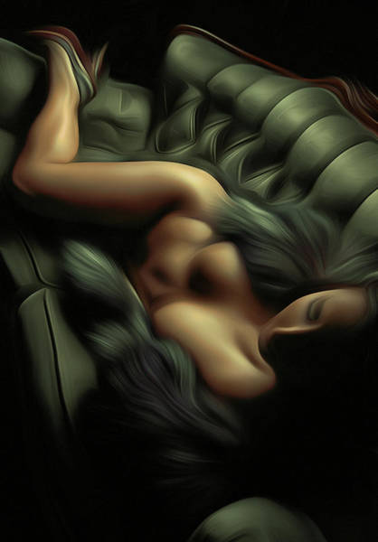 Wall Art - Painting - Laying On The Couch by Naman Imagery