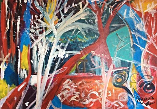 Recycling Painting - Laying Roots by Mahlia Amatina
