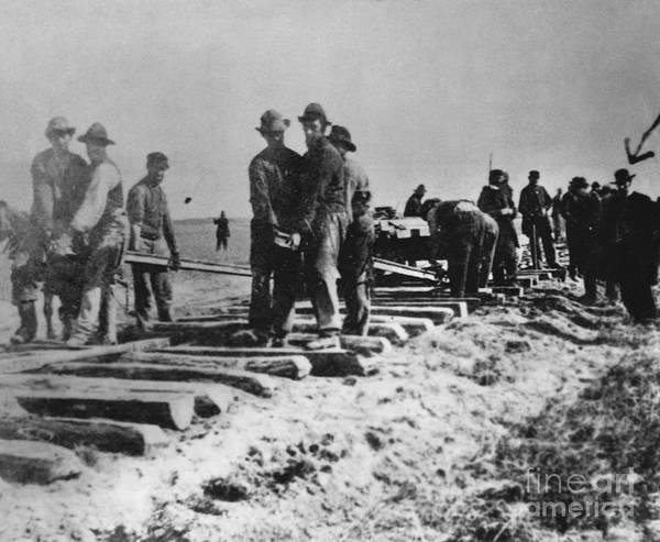 Laramie Photograph - Laying Tracks, 1868 by Omikron