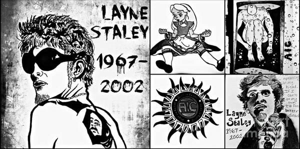Layne Staley Wall Art - Drawing - Layne Staley Aic Tribute by Tarisa Smith