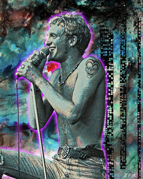 Obey Painting - Layne Staley - Heaven Beside You by Bobby Zeik