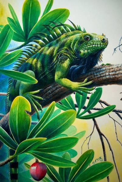 Painting - Lazin' Iguana by Christopher Cox