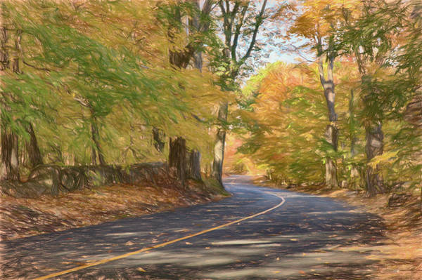 Wall Art - Photograph - Lazy Autumn Walk Along The Lane by Jeff Folger
