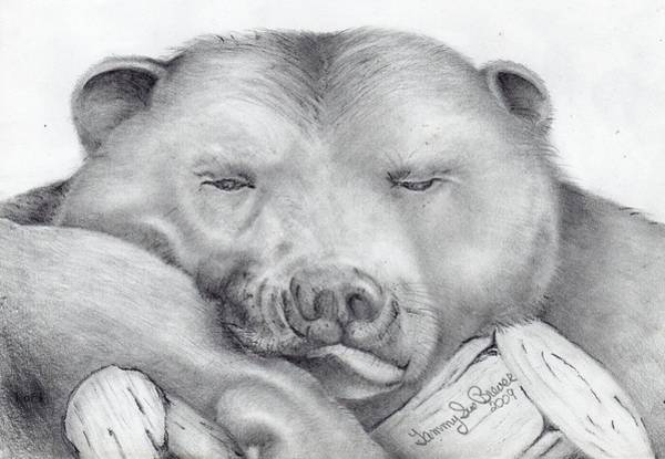 Distribution Drawing - Lazy Bear by Tammy Brewer