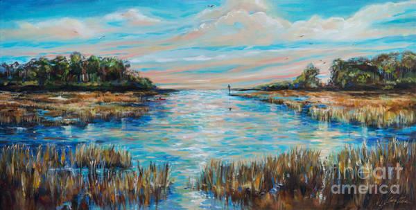 Lazy Coastal River II Art Print