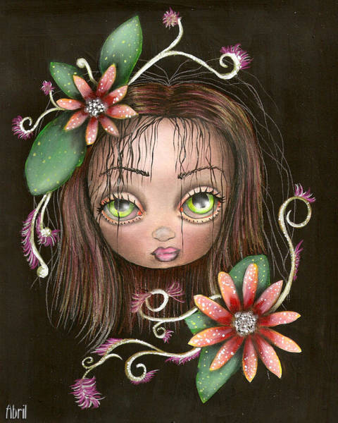 Tattoo Flash Painting - Lazy Eye by Abril Andrade Griffith