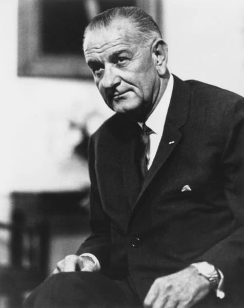 Democratic Party Photograph - Lbj  by War Is Hell Store